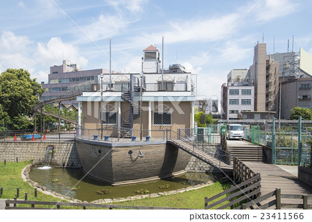 The Yokokawa River Water Park (Tokyo Sumida Ward) near the Tokyo Sky Tree 23411566