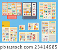 Open refrigerator products vector set. 23414985