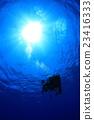 潛水員 跳水 戴水肺潛水 23416333