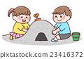 砂坑 玩沙 儿童 23416372
