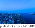 오사카 베이 지역 새벽 23416409