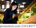 woman, city, night 23418077