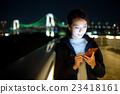 woman, city, night 23418161