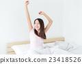Woman waking up at morning 23418526