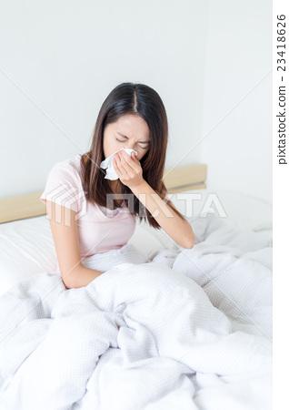 Woman feeling unwell 23418626