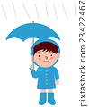 A boy with an umbrella raincoat 23422467