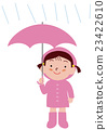 有雨伞雨衣的女孩 23422610
