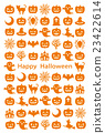 Vertical postcard with Halloween icon 23422614