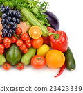 fruit and vegetable isolated on white background 23423339