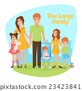 Large Family Illustration 23423841