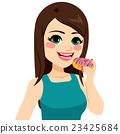 Girl Holding Doughnut 23425684