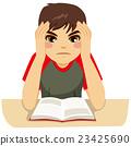 Teenage Boy Studying Hard 23425690