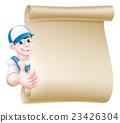 Thumbs up mechanic scroll 23426304