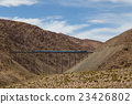 Train driving over Polvorilla Viaduct in Argentina 23426802