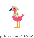 Pink Flamingo Wearing A Hat 23427765