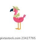 Pink Flamingo Wearing A Hat 23427765