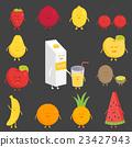 Fruit set. Strawberry, pomegranate, lemon, cherry 23427943
