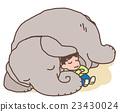 大象 漂亮 孩子 23430024