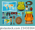 Travel and tourism. Flat style. World, earth map 23430364