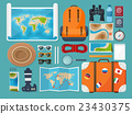Travel and tourism. Flat style. World, earth map 23430375