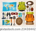 Travel and tourism. Flat style. World, earth map 23430442