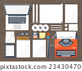 paper, typewriter, vector 23430470