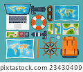Travel and tourism. Flat style. World, earth map 23430499