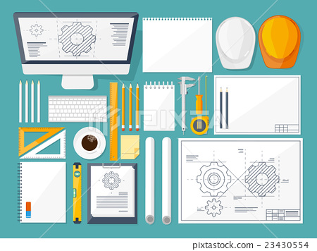 Vector illustration. Engineering and architecture 23430554