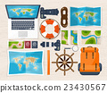 Travel and tourism. Flat style. World, earth map 23430567