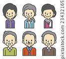 老人 一組 老女人 23432165