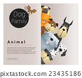 Cute animal family background with Dogs 2 23435186
