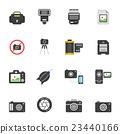 Color icon set - camera and accessory 23440166