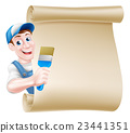 Cartoon Painter Decorator Scroll 23441351