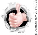 拇指 大拇指 拳頭 23441353