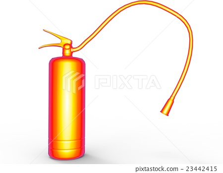 3d illustration of fire extinguisher. 23442415