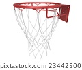 3d illustration of basketball web 23442500
