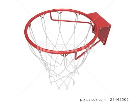 3d illustration of basketball web 23442502