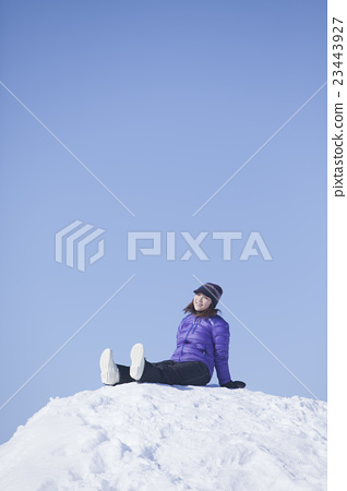 Stock Photo: snow mountain, snowy mountain, snowâ€covered mountain