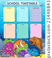 Weekly school timetable thematics 1 23446843