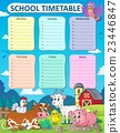 Weekly school timetable thematics 5 23446847