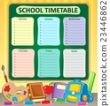 Weekly school timetable topic 6 23446862