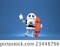 3D Robot with skateboard. 3D illustration 23448766