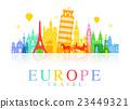 Europe Travel Landmarks. 23449321