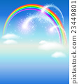 Rainbow in the sky and salute 23449801