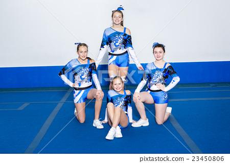 Portrait of beautiful cheerleaders  23450806