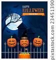 Halloween Castle Postcard 23451390