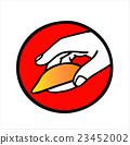 sushi, hand-pressed sushi, icon 23452002
