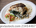 Grill sea bass fillets with crushed potatoes 23454467