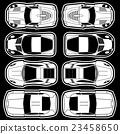 white racing car icons 23458650