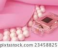 perfume, and, pearls, on, pink, silk 23458825